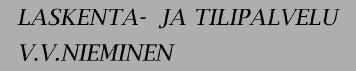 Laskenta- ja tilipalvelu V.V. Nieminen