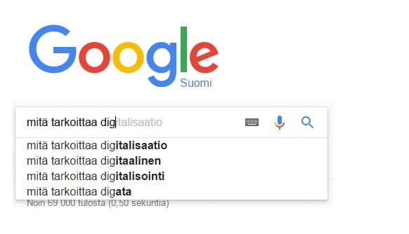 digitalisaation määritelmä
