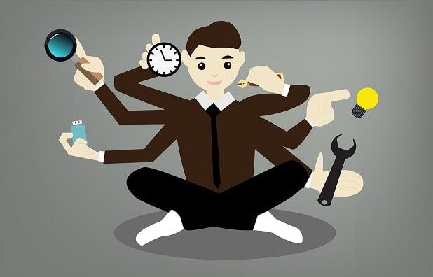 Vähennä multitaskaamista ja tehostat stressin hallintaa.
